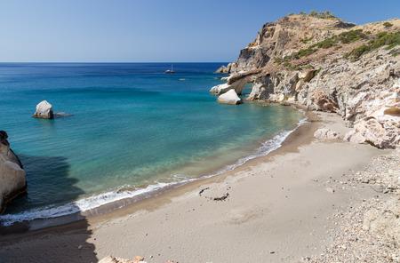 Gerontas beach, Milos island, Cyclades, Greece photo