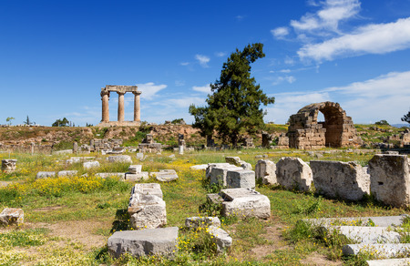 Ancient Corinth, Peloponnese, Greece photo