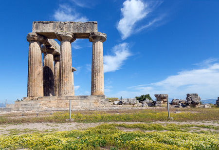 Temple of Apollo, Ancient Corinth, Greece photo