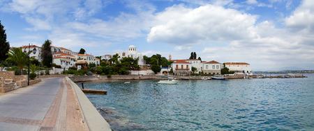 Spetses island waterfront, Greece photo