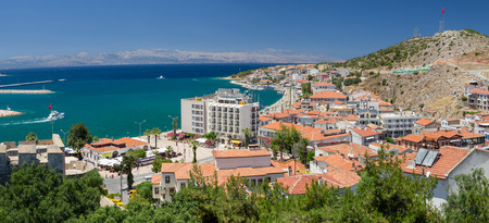 Panoramic view of Cesme, Turkey