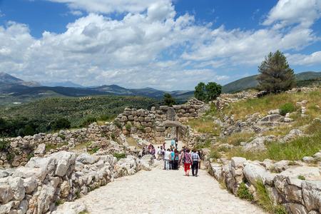 ミケーネ、ギリシャの考古学的なサイト