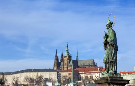Statue of St. John of Nepomuk, Charles Bridge, Prague, Czech Republic