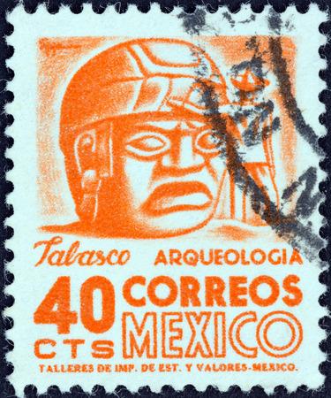 tabasco: MEXICO - CIRCA 1950: A stamp printed in Mexico shows Sculpture, Tabasco, circa 1950. Editorial