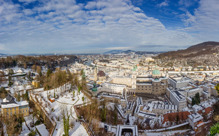 Panorama of Salzburg from Hohensalzburg Castle, Austria