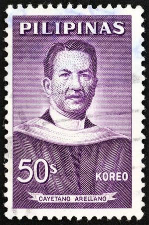 estampilla: PHILIPPINES - CIRCA 1962: A stamp printed in Philippines shows Cayetano Arellano, circa 1962.