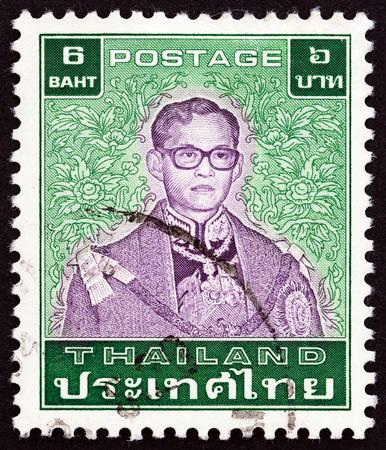 THAILAND - CIRCA 1984: A stamp printed in Thailand shows King Bhumibol Adulyadej, circa 1984.
