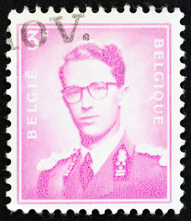 baudouin: BELGIUM  CIRCA 1958: A stamp printed in Belgium shows King Baudouin Marchant type circa 1958.