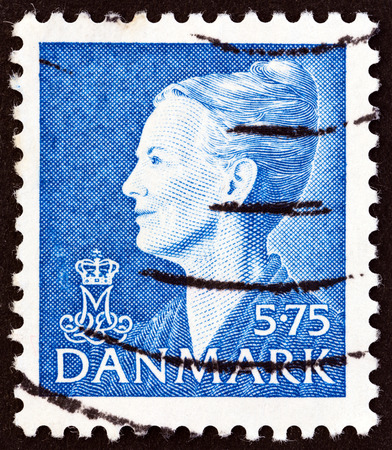 DENMARK - CIRCA 2000: A stamp printed in Denmark shows Queen Margrethe II, circa 2000. Editorial