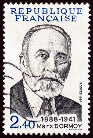 marx: FRANCE - CIRCA 1984: A stamp printed in France shows Marx Dormoy, circa 1984.