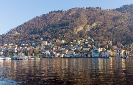 lakefront: View of Como lakefront, Italy