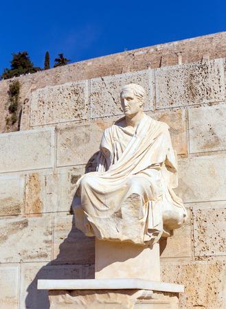 dionysus: Statue of Menander, Theatre of Dionysus, Athens, Greece