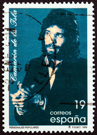 SPAIN - CIRCA 1996: A stamp printed in Spain shows Jose Monge Cruz Camaron de la Isla, circa 1996.