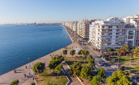 The waterfront of Thessaloniki, Greece Stok Fotoğraf