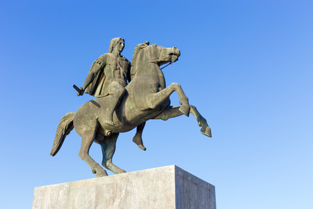 alexander the great: Statue of King Alexander the Great in Thessaloniki, Greece