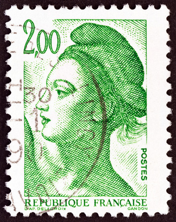 FRANCE - CIRCA 1982: A stamp printed in France shows Liberte of Delacroix, circa 1982.
