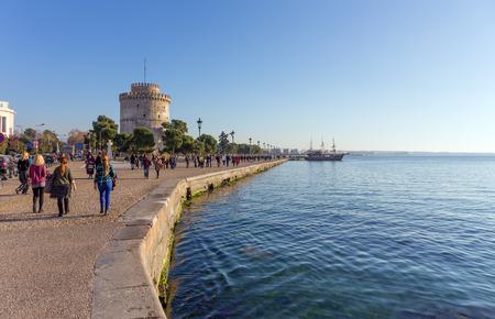 thessaloniki: The promenade and White Tower, Thessaloniki, Greece