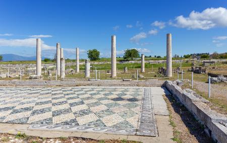 the great outdoors: Ruins of ancient Pella, Macedonia, Greece Stock Photo