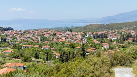thessalia: View of Argalasti village, Pelio, Greece Stock Photo