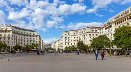 eclecticism: Aristotelous Square, Thessaloniki, Greece Editorial