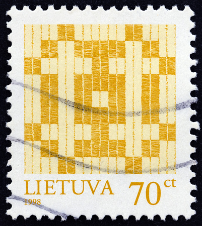 double cross: LITHUANIA - CIRCA 1998: A stamp printed in Lithuania shows Double Cross, circa 1998. Editorial