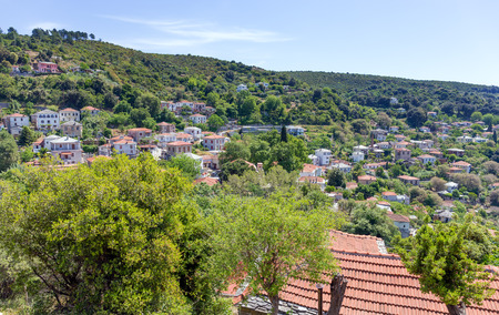 thessalia: View of Afetes village, Pelio, Greece