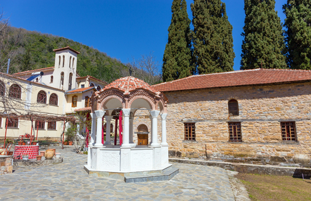 thessaly: Upper Panagia Xenia monastery, Thessaly, Greece Stock Photo