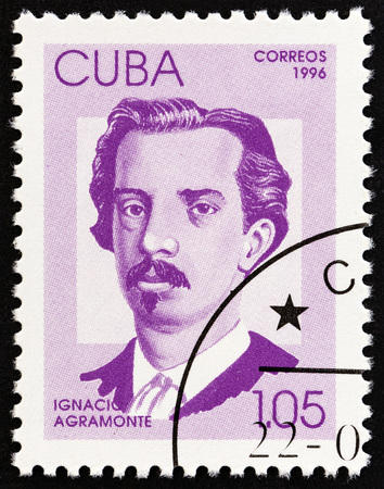 CUBA - CIRCA 1996: A stamp printed in Cuba from the Independence Fighters issue shows Ignacio Agramonte, circa 1996. Editorial