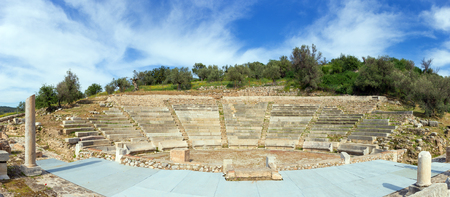 archeological: The Little Theatre of Ancient Epidaurus, Peloponnese, Greece Stock Photo
