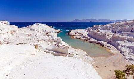 Sarakiniko beach, Milos island, Cyclades, Greece.