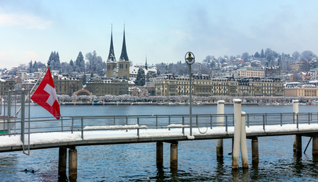 Lucerne in the winter, Switzerland.