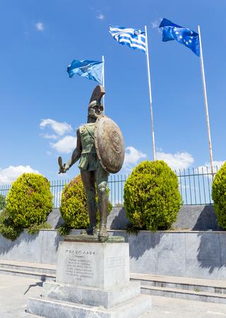 King Leonidas monument, Sparta, Greece.