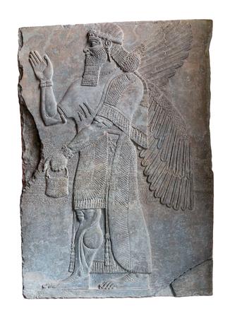 Assyrian art on the wall, King Ashurnasirpal II.