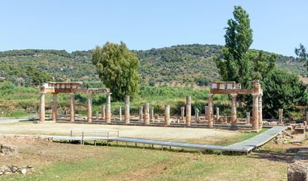 The Temple of Artemis at Brauron in Attica, Greece. Banque d'images - 133246003