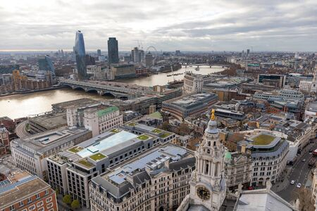 City of London view from St. Paul`s Cathedral. Stockfoto
