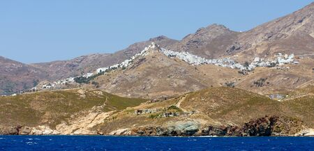 View of Chora village, Serifos island, Cyclades, Greece.