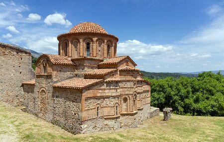 The Byzantine church of Agioi Theodoroi in Mystras, Peloponnese, Greece.