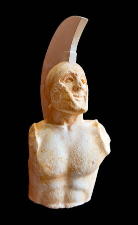 Statue of a hoplite known as Leonidas found in ancient Sparta, 480 B.C.