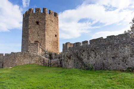 Platamon Castle in Pieria, Greece.