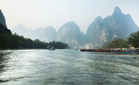 Guilin landscape, Lijiang River Stock Photo