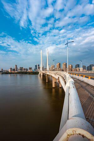 Cityscape of Hesheng Bridge in Huizhou, China 写真素材