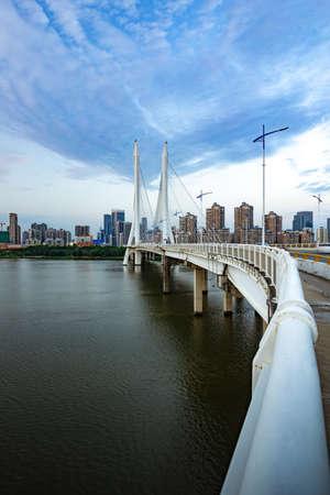 Cityscape of Hesheng Bridge in Huizhou, China 報道画像