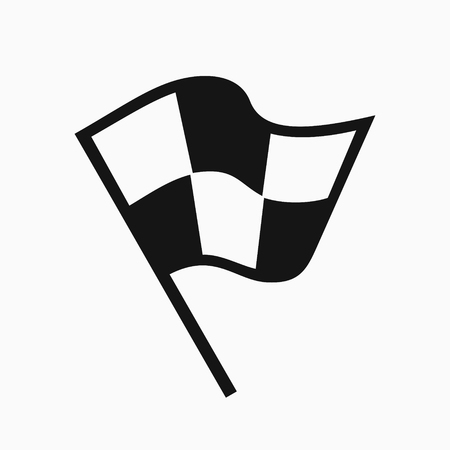 attached: Black and white racing flag icon Illustration