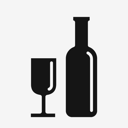 Weinglas Glas und Flasche Standard-Bild - 82265174
