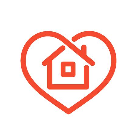 Huis in het hart Stock Illustratie
