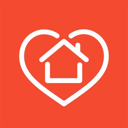 House in heart logo