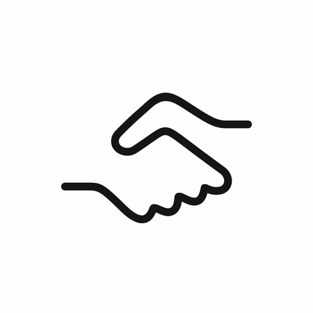 Handshake icon vector illustration Illustration