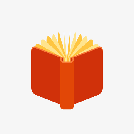 Red open book icon Illustration