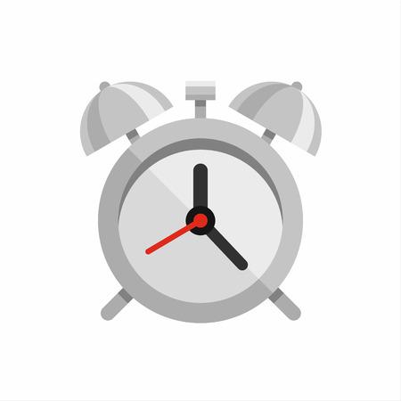 Steel polished alarm clock vector illustration Illustration