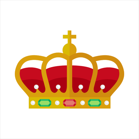 royal person: Ornate crown vector illustration